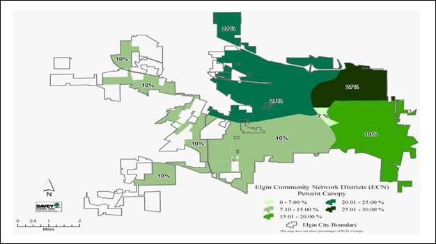 Percent tree canopy map