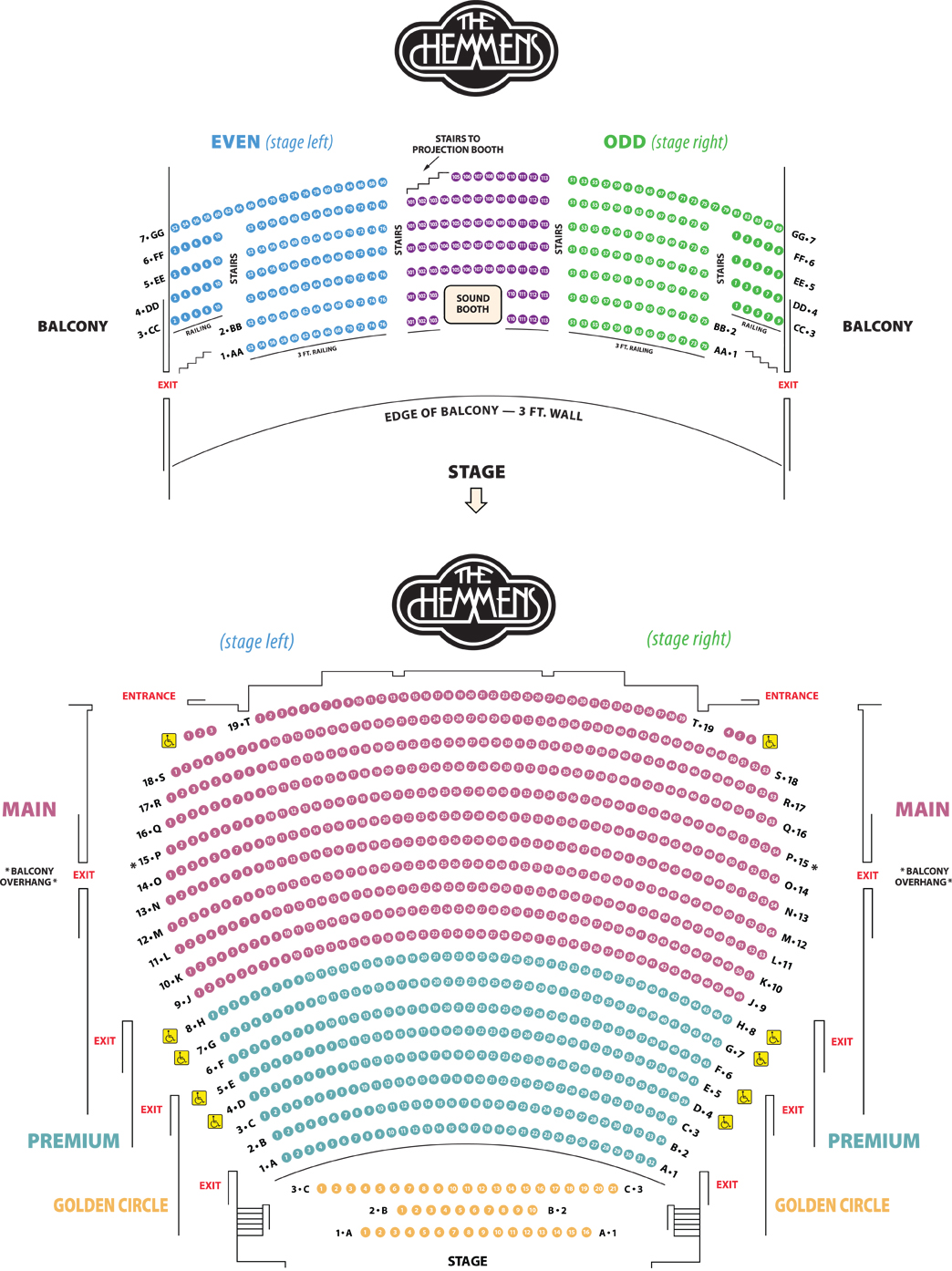 Seating chart city of elgin illinois official website - Winter garden theatre box office hours ...