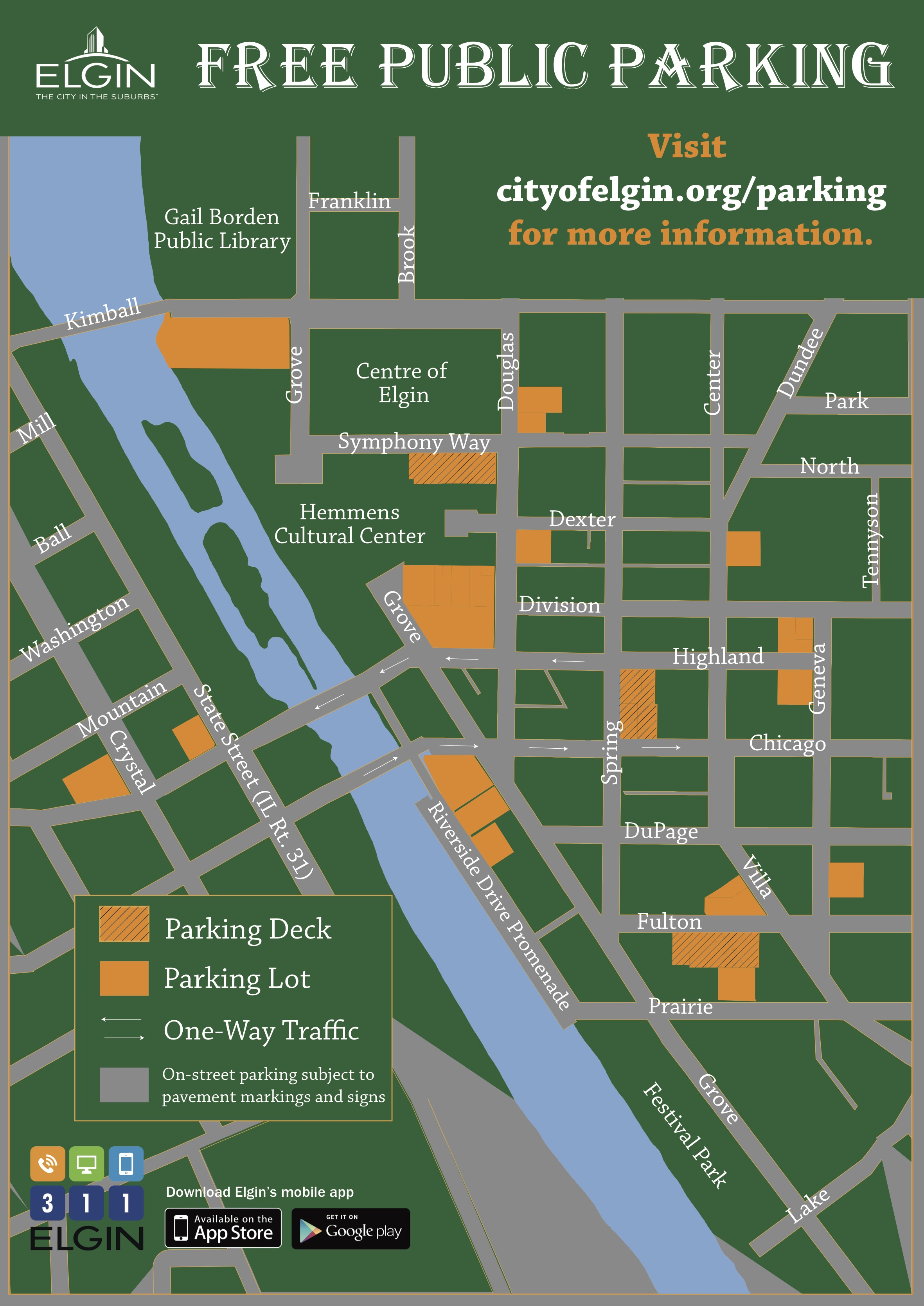 Permit Parking Chicago Map.Parking In Elgin City Of Elgin Illinois Official Website
