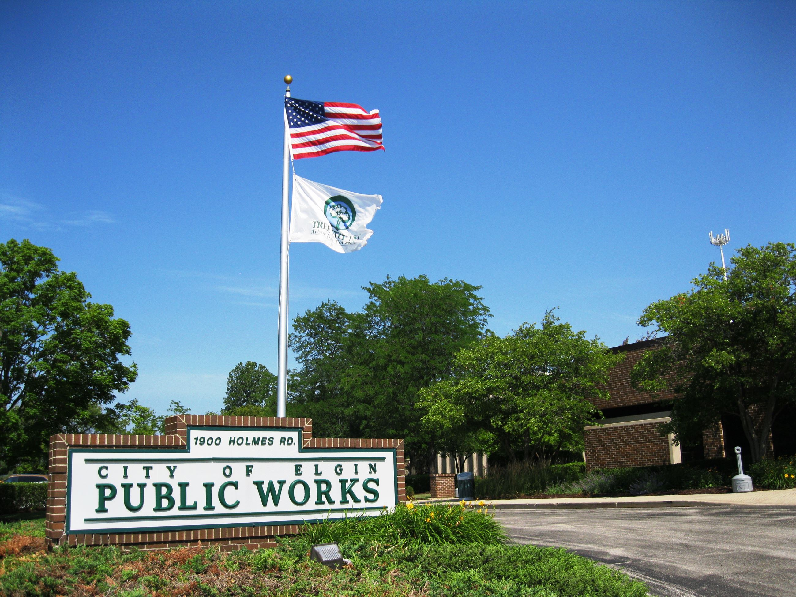 Public Works Building Sign