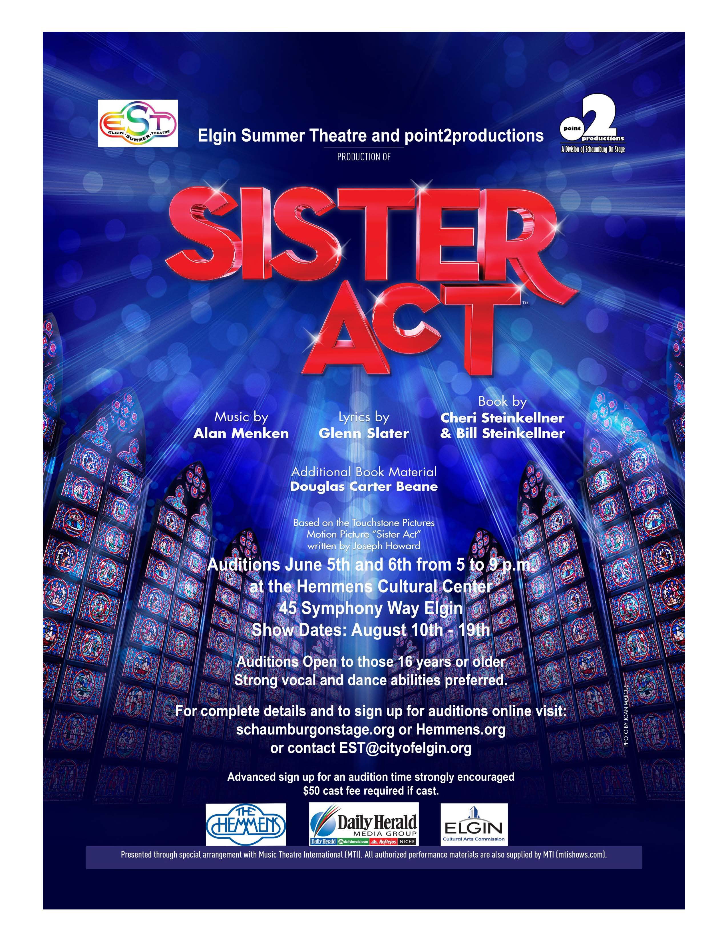 Sister Act Audition Flyer