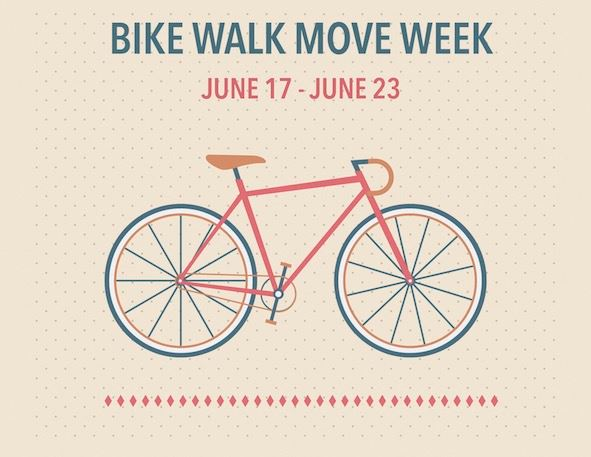 Bike Walk Move Week, June 17-23, 2018, image with bike