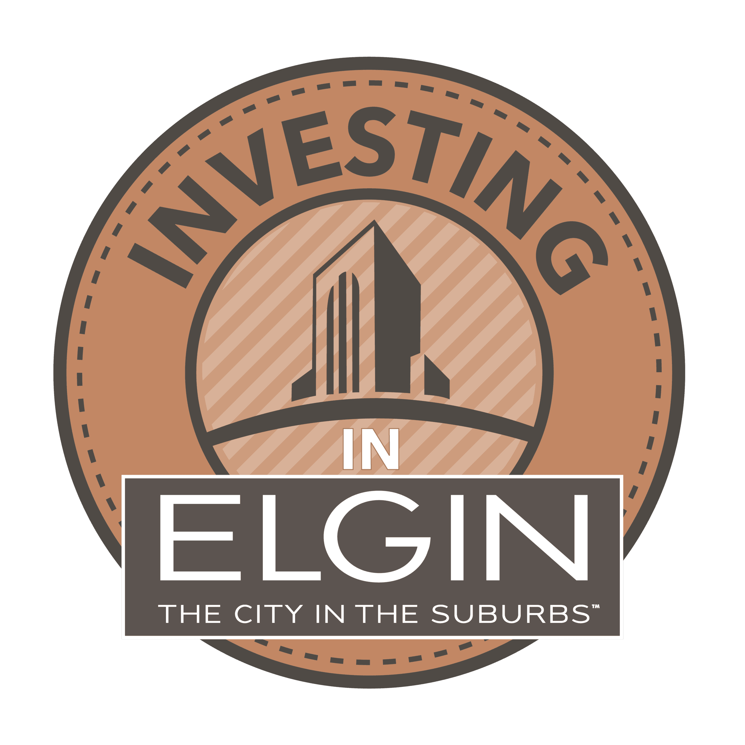 Investing in Elgin logo for construction campaign