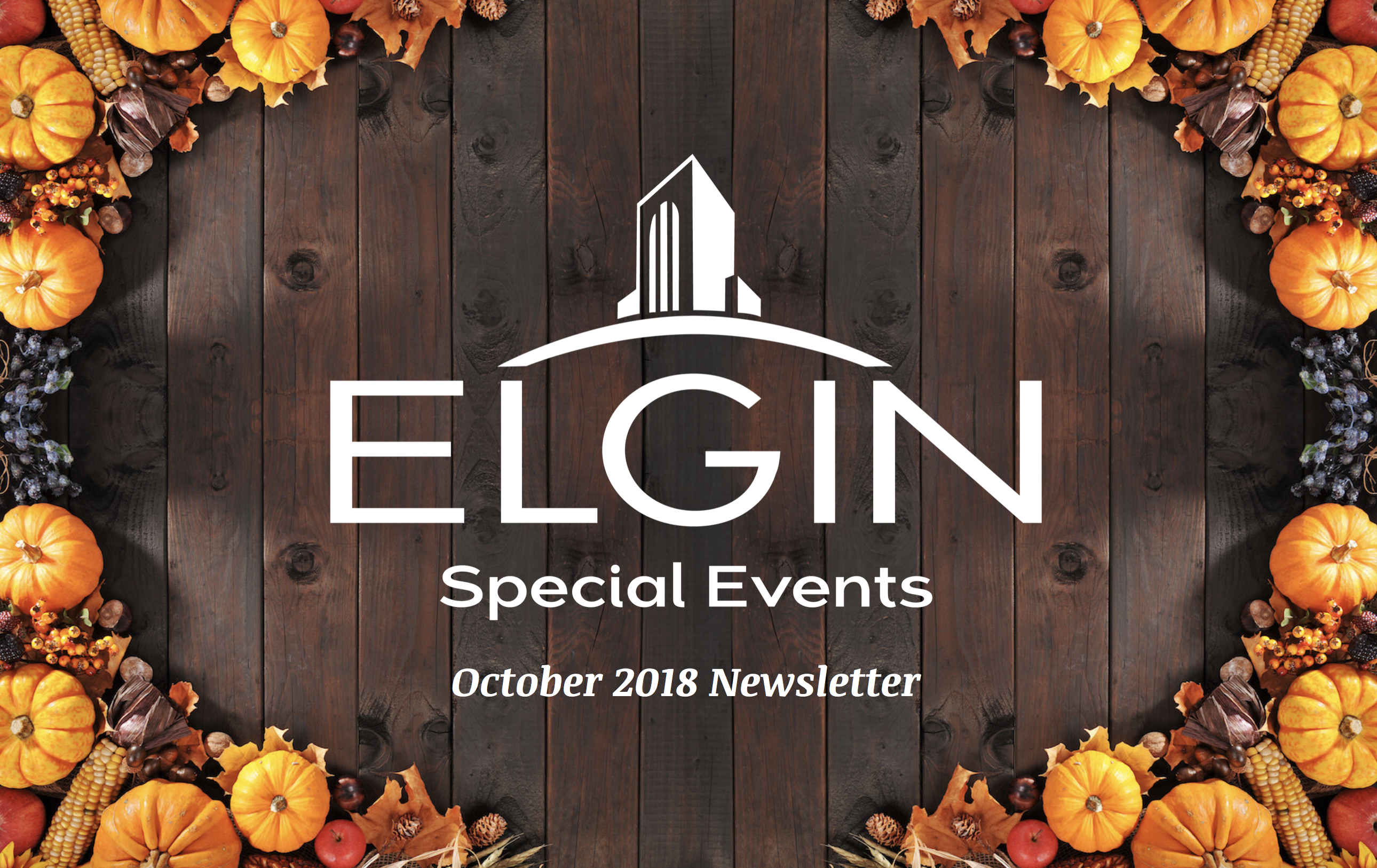 Special Events Newsletter- October Cover- fall theme