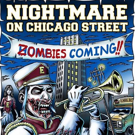 High School Band Zombie image for 2018 Nightmare on Chicago Street promotion