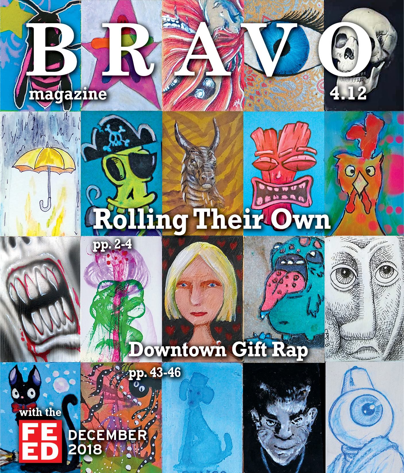 BRAVO December Cover- Oddball artwork
