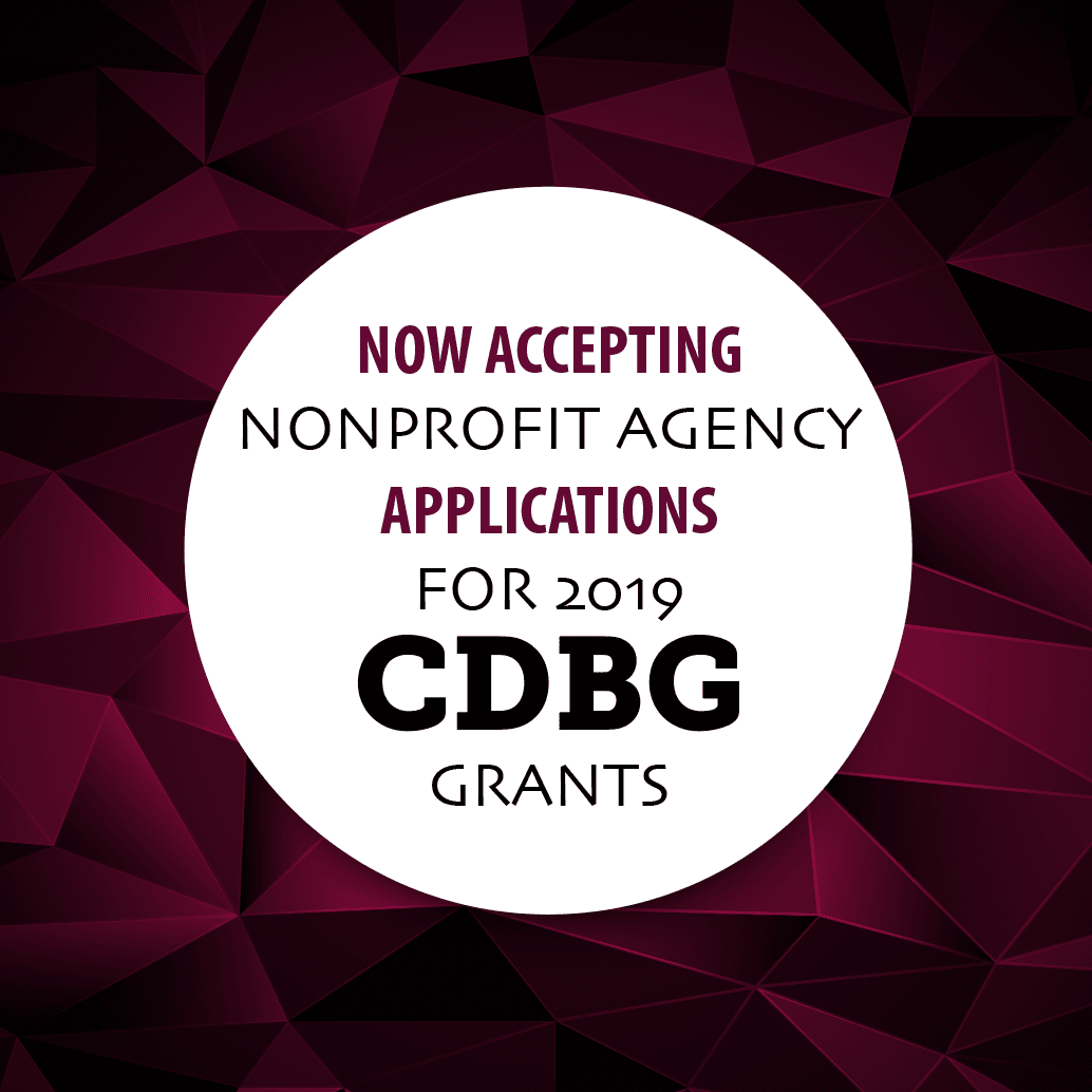 CDBG grant applications for 2019 programs being accepted