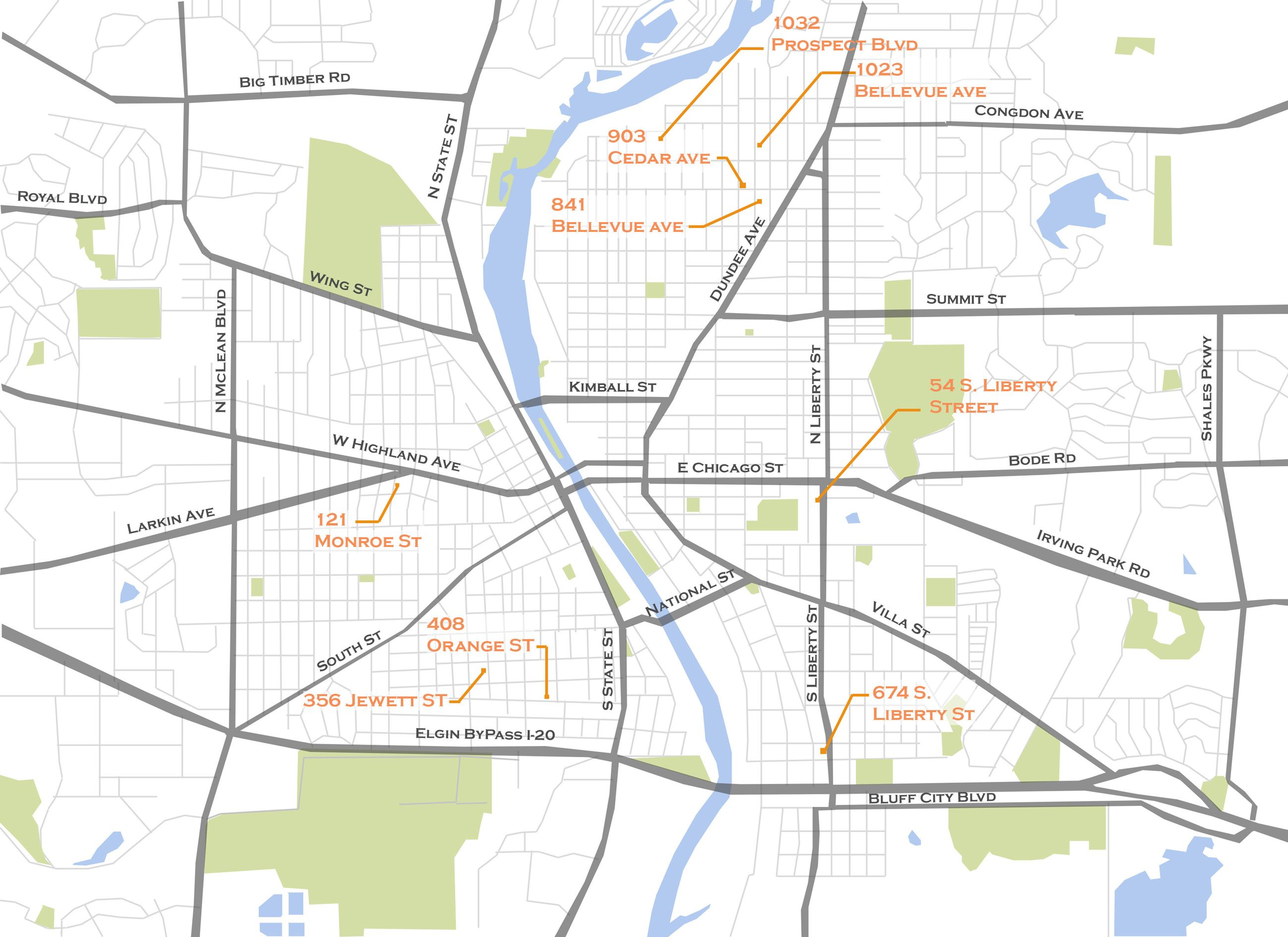 Bungalow Thematic Historic District_Map