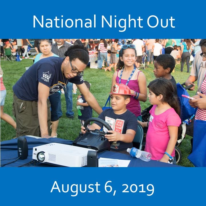 National Night Out icon-2019. office and children