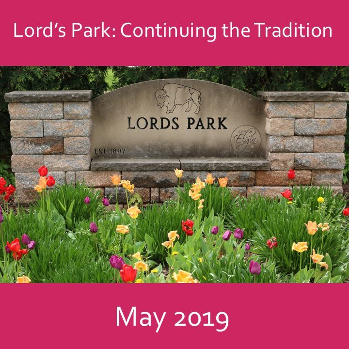 Lord's Park continuing the tradition icon-2019. park sign