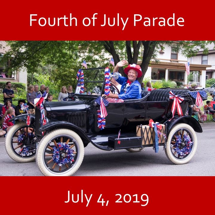 Fourth of July icon-2019. old timey car