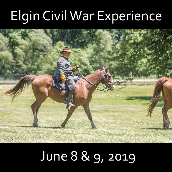 Elgin Civil War Experience icon-2019. men on horseback.