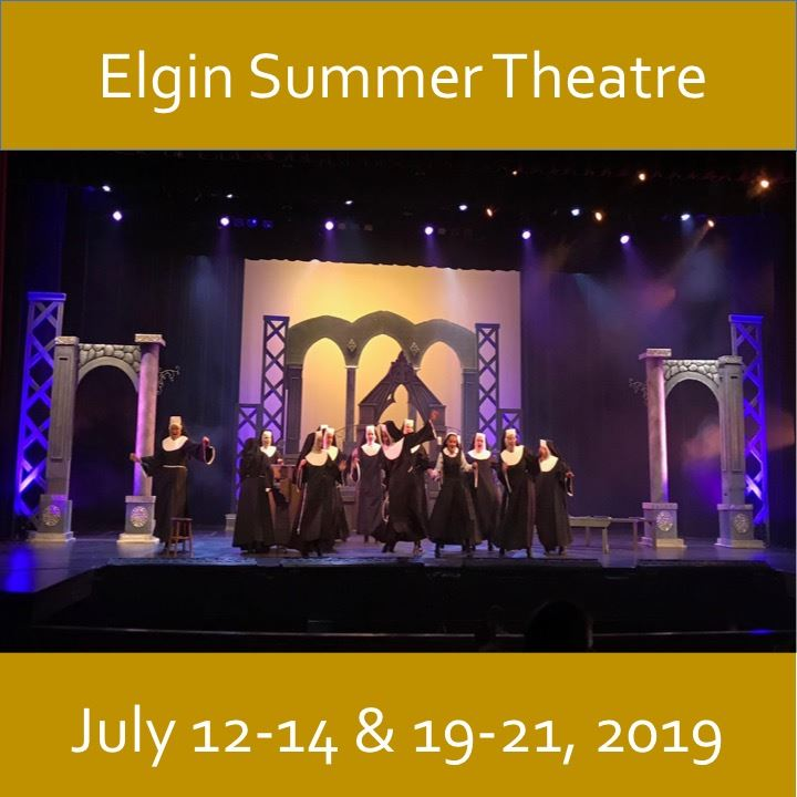 Elgin Summer Theatre icon-2019. Sister Act image