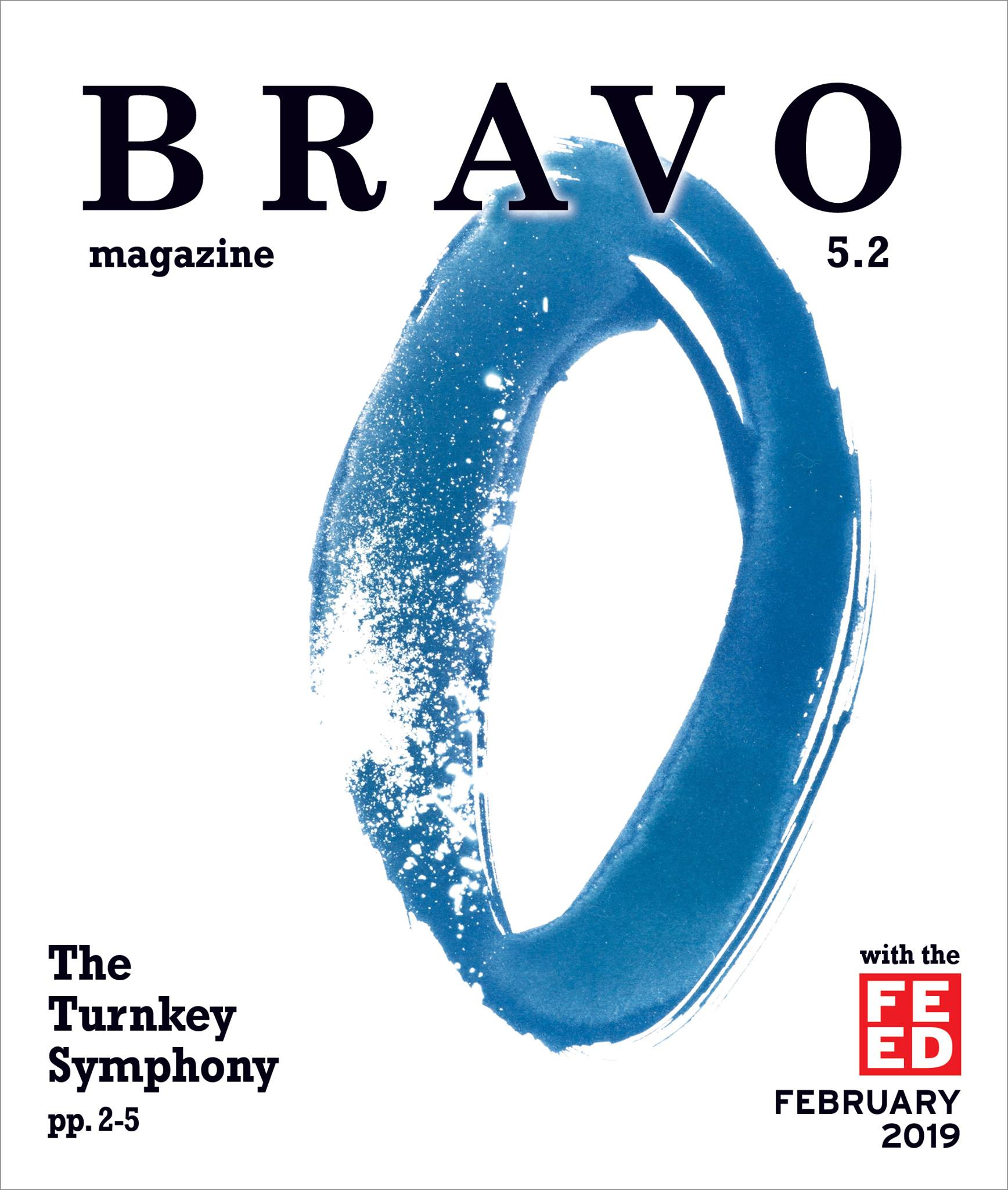 Bravo Magazine February 2019 Cover- blue circle