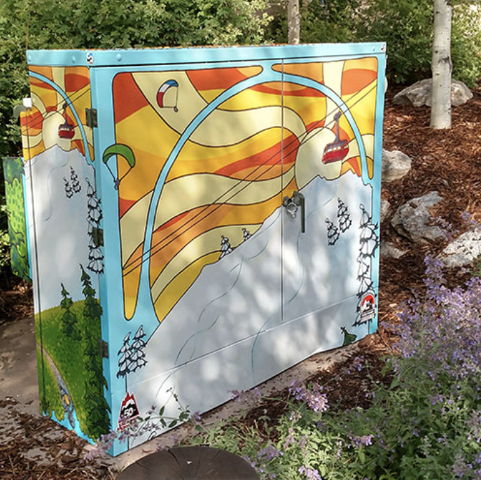 painted utility box