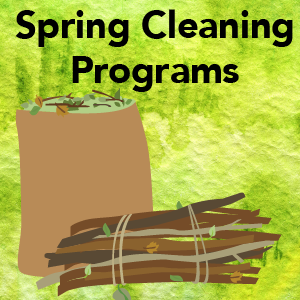Spring Cleaning Programs icon with yard waste