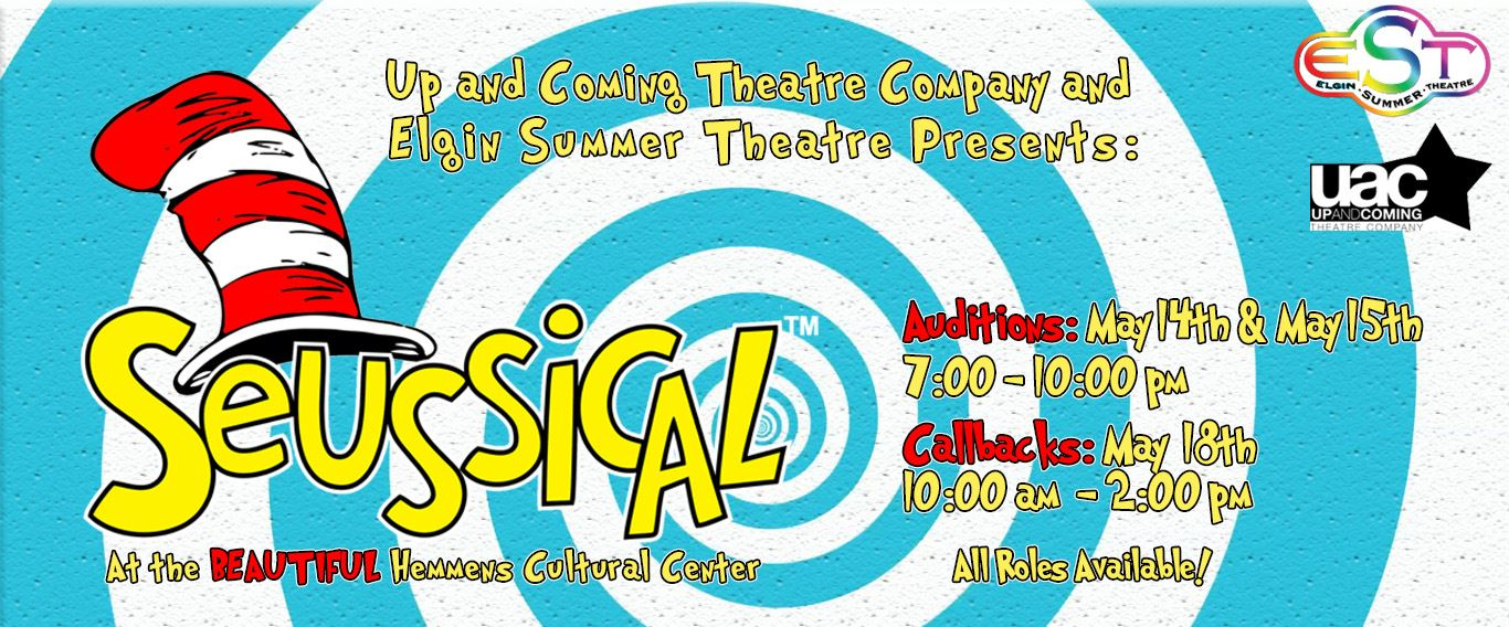 EST Auditions web graphic for Suessical