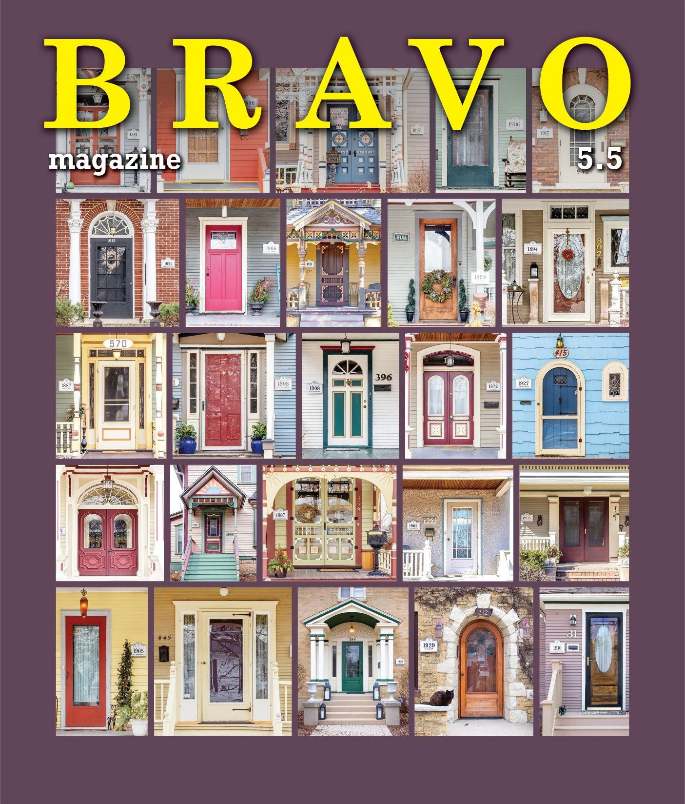 Bravo May cover 2019, historic home front doors
