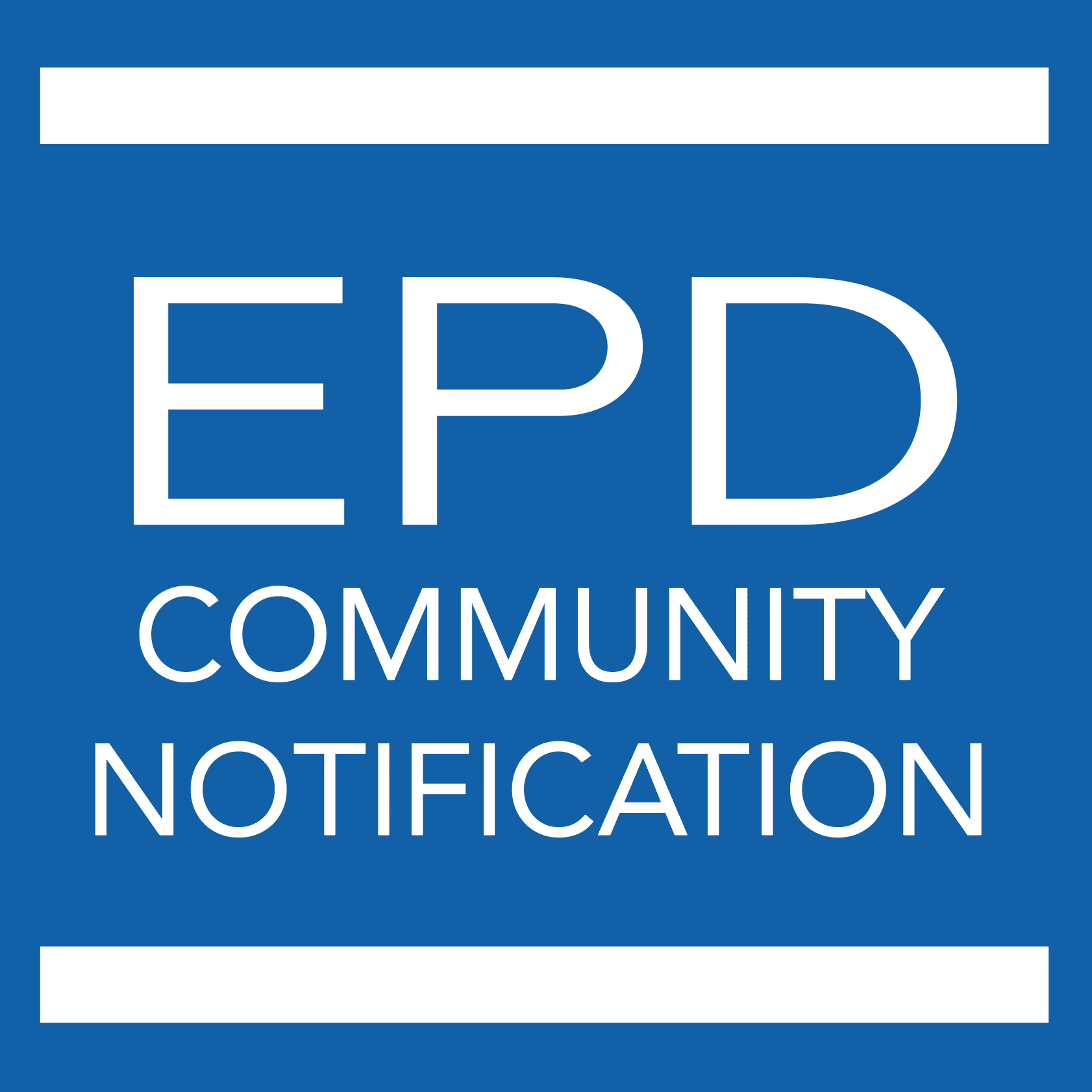 EPD Community Notification