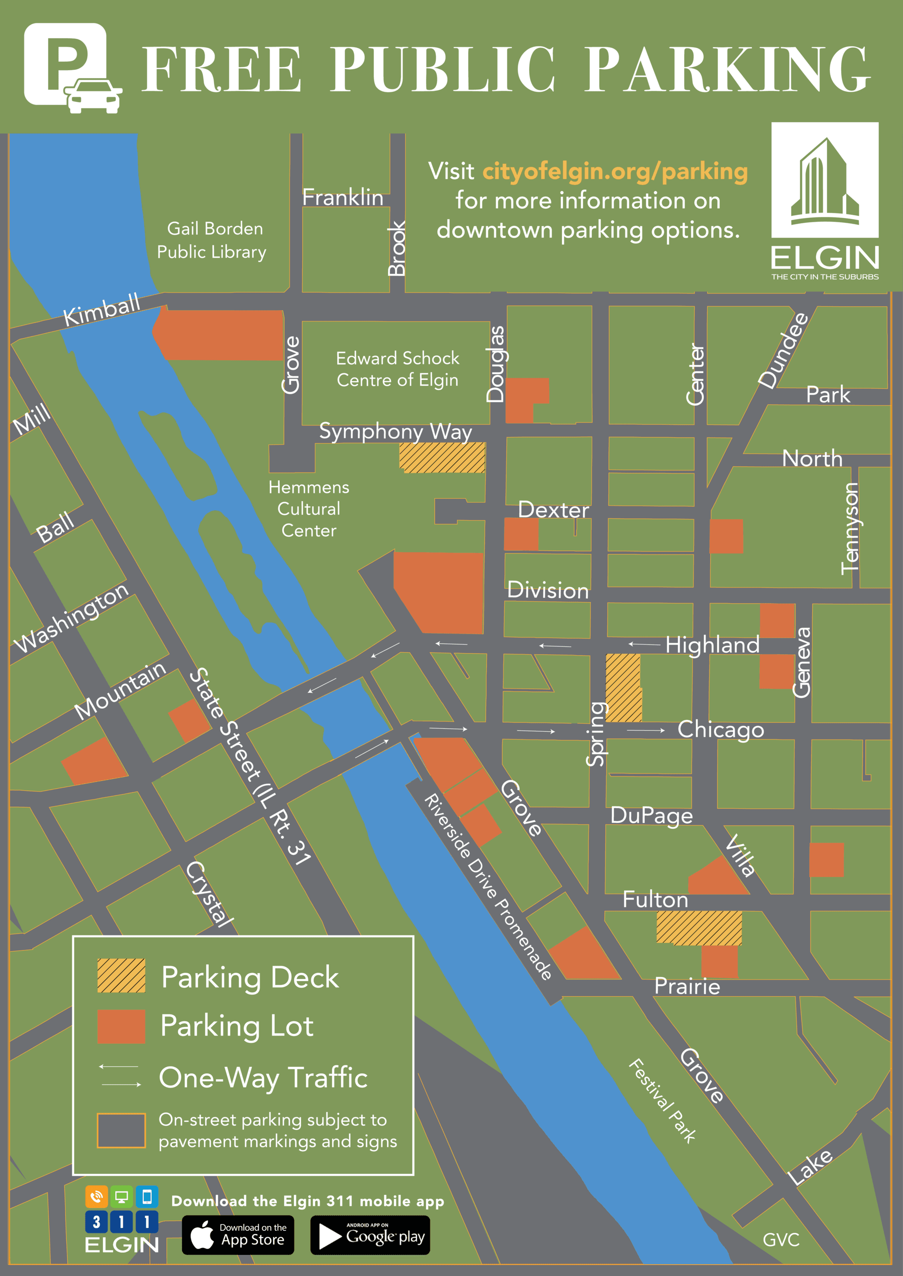 Downtown Parking Map Updated 2019