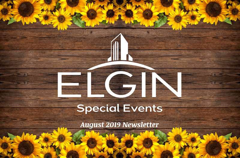 August 2019 Special events newsletter