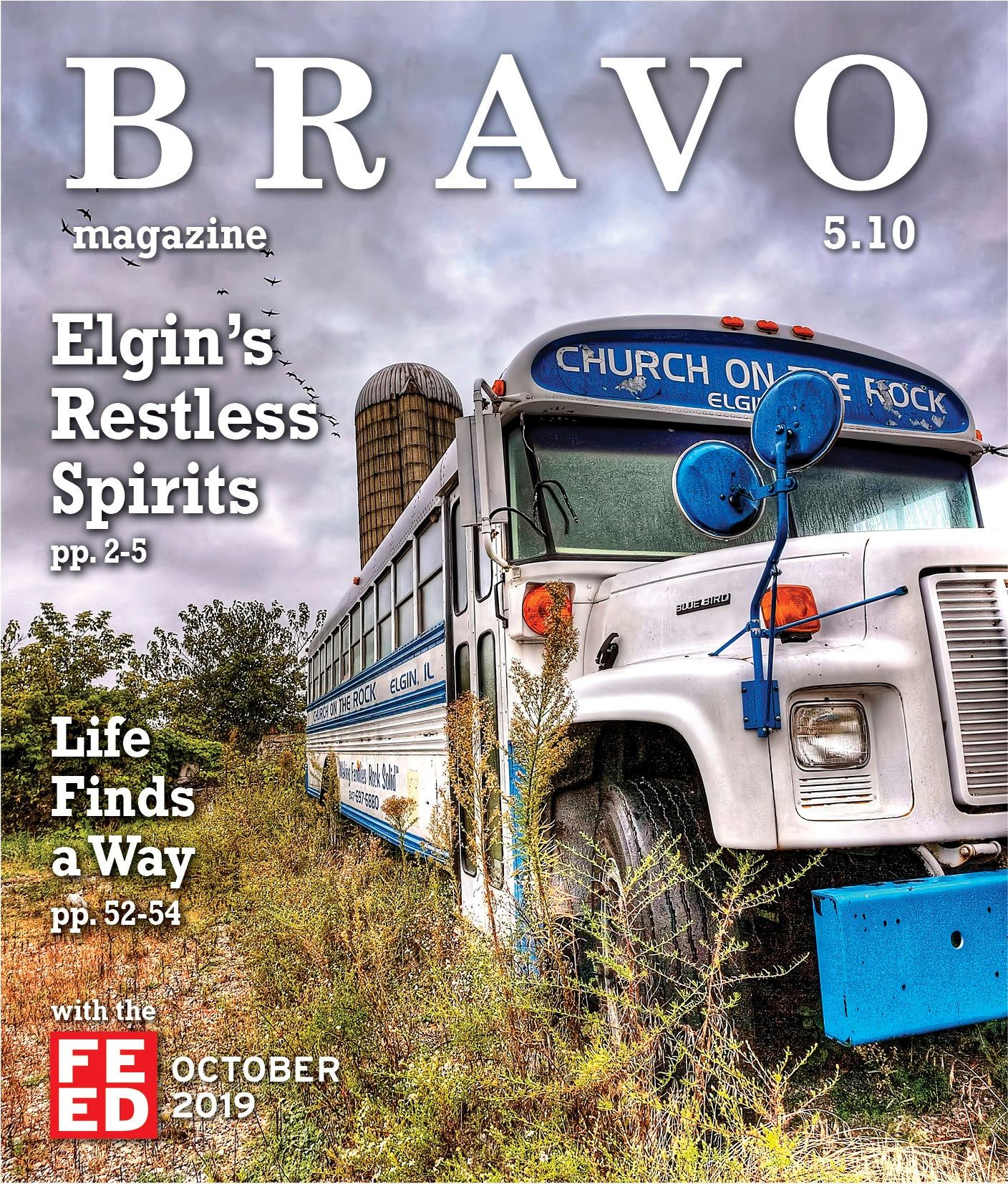 Bravo Magazine- October cover. Bus in a field