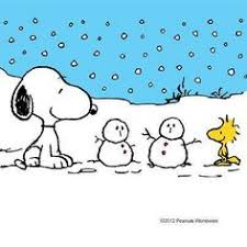 Snoopy enjoy the snow