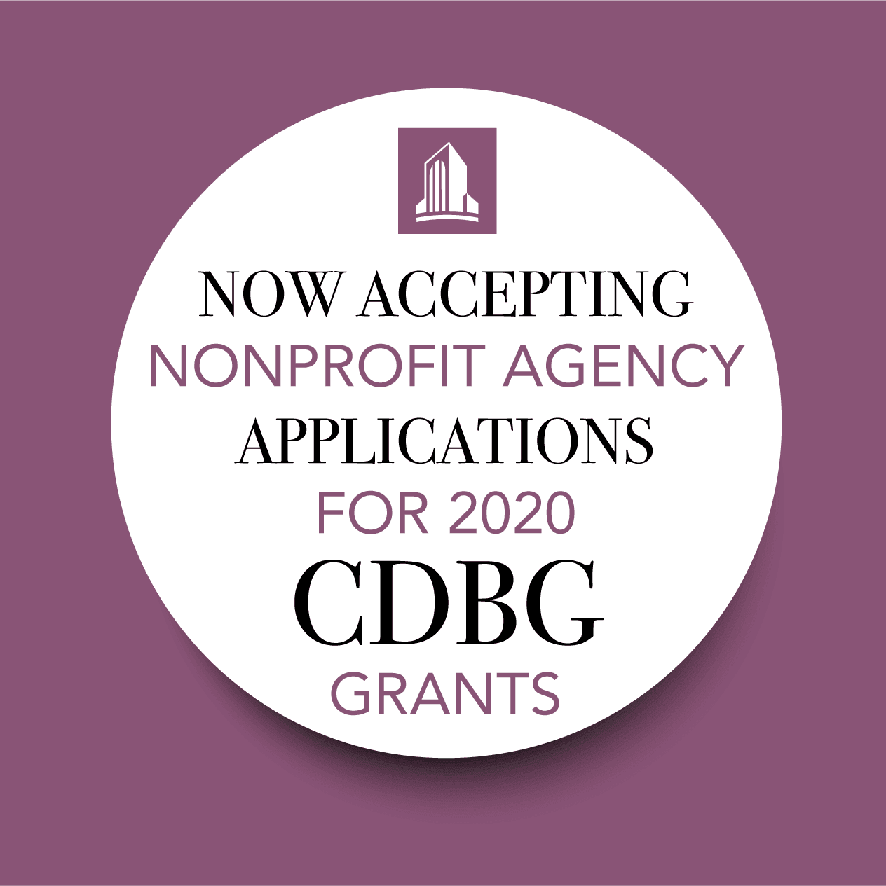 cdbg 2020 applications being accepted