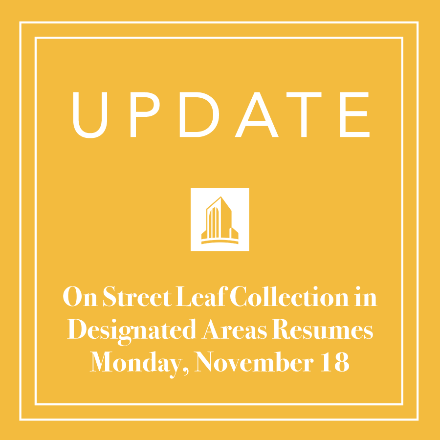 Update On Street Leaf collection program resumes