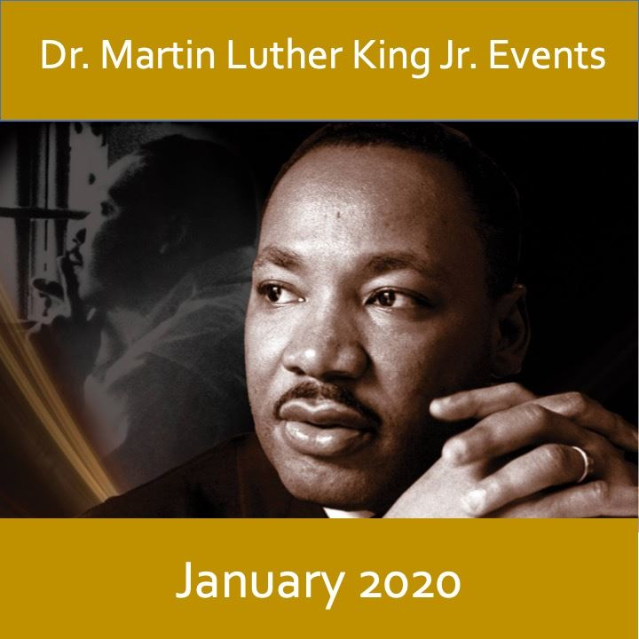 MLK 2020 icon, image of Dr. Martin Luther King Jr.