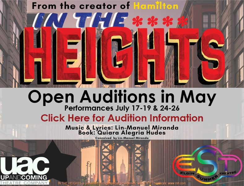 Elgin Summer Theatre In The Heights Auditions Slide and Link