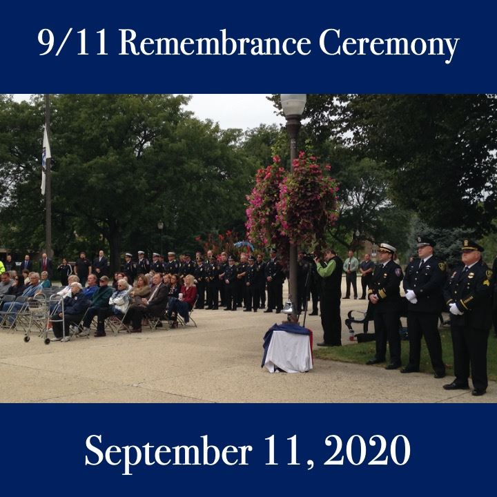 September 11 Ceremony 2020. crowd scene