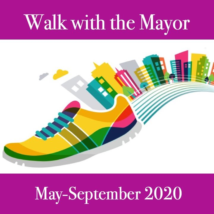 Walk with the Mayor 2020 icon. image of a shoe