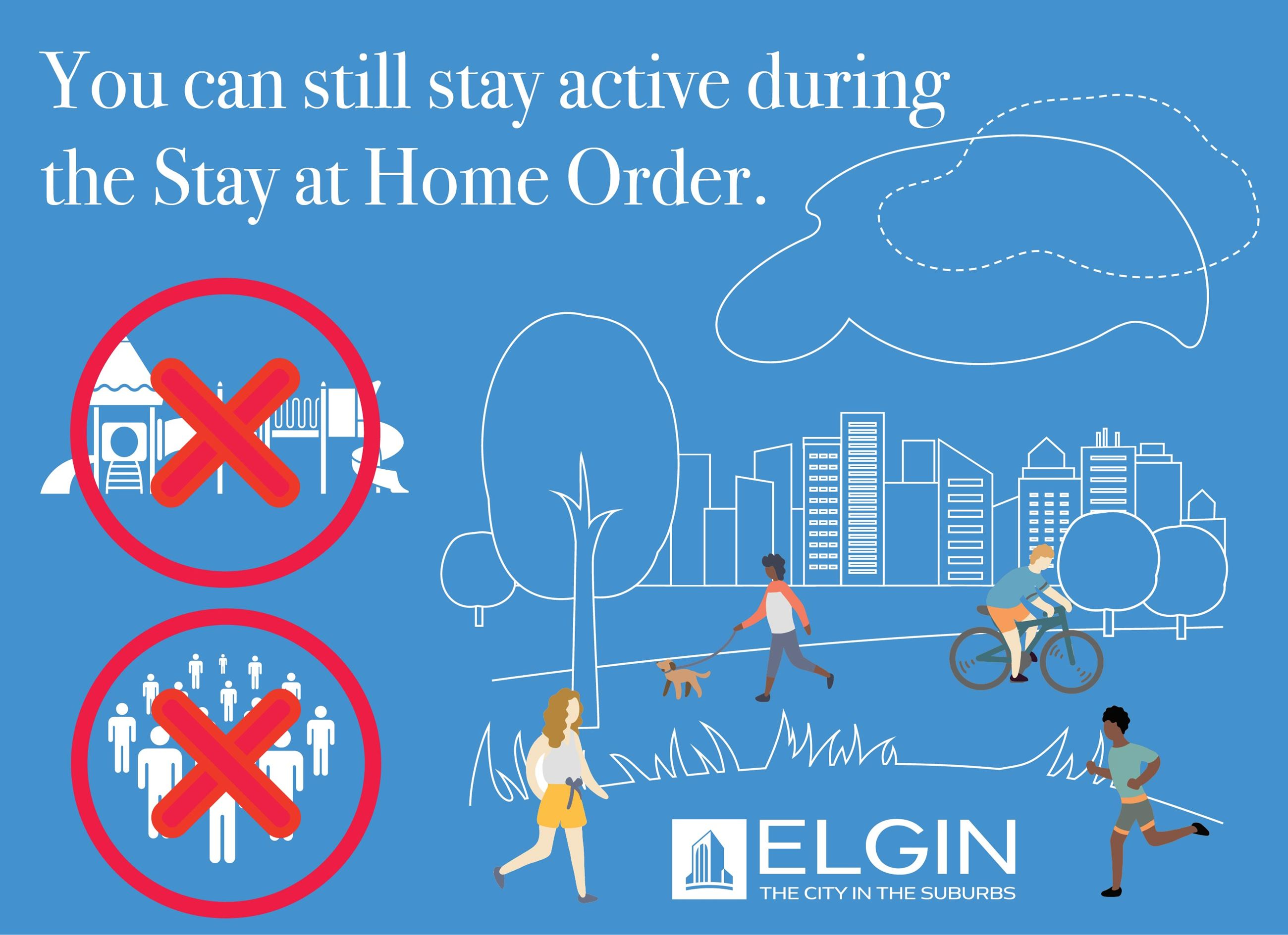 Stay Home Stay Active infographic