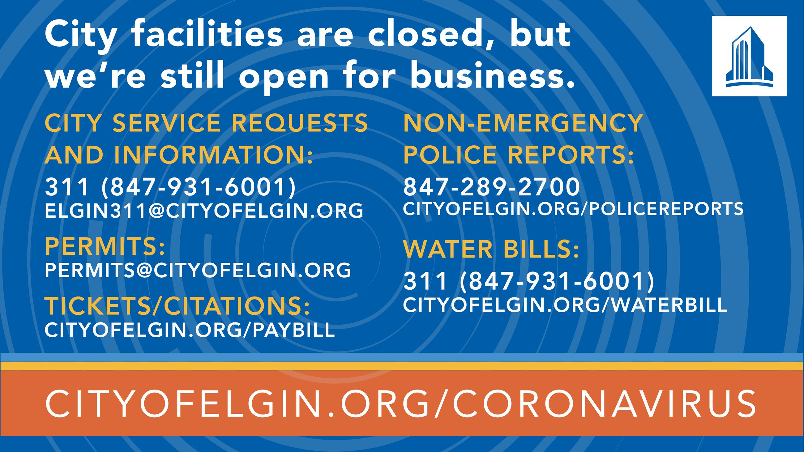 Closure Information - City is still in business - who to contact