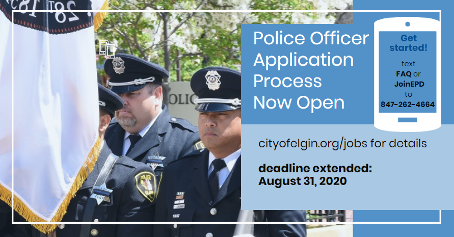 Police Officer Hiring - deadline: 8/31/2020