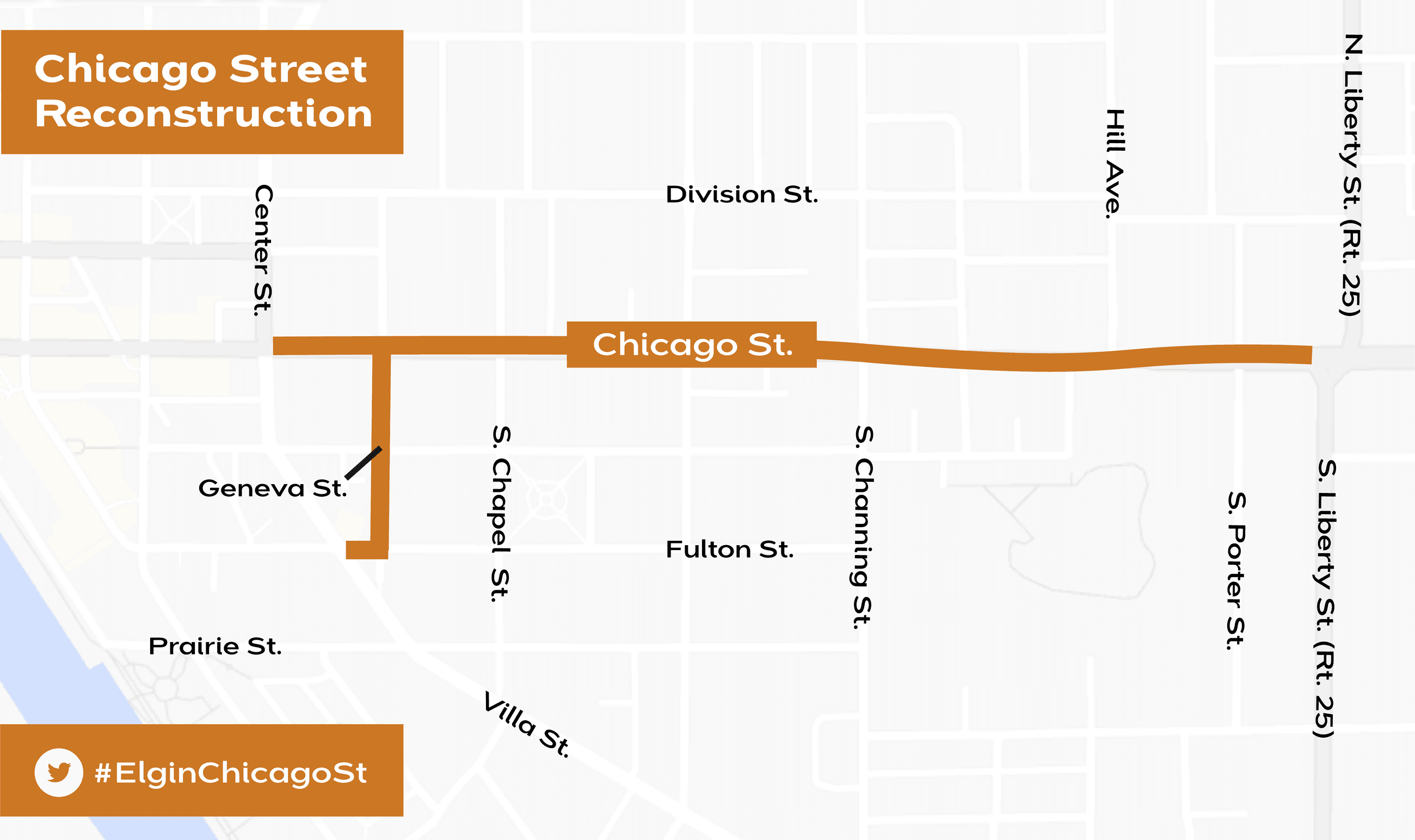 map of chicago street reconstruction project area