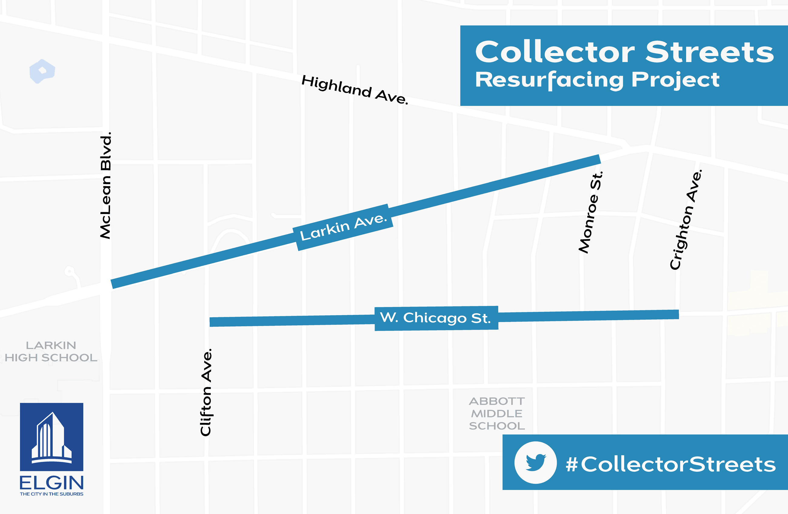 Collector Street Resurfacing Map for Larkin Avenue