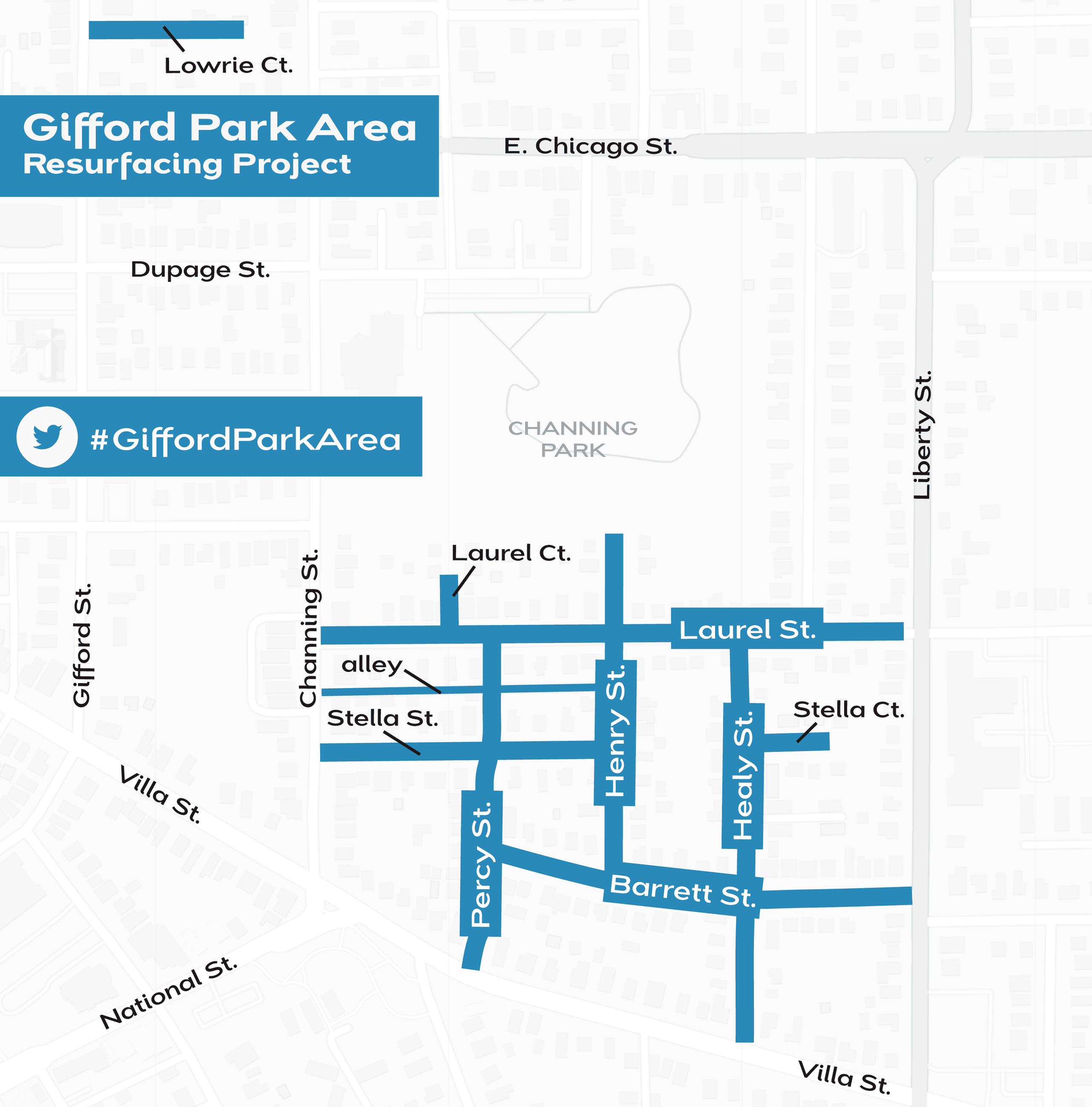 Gifford Park Area resurfacing project map