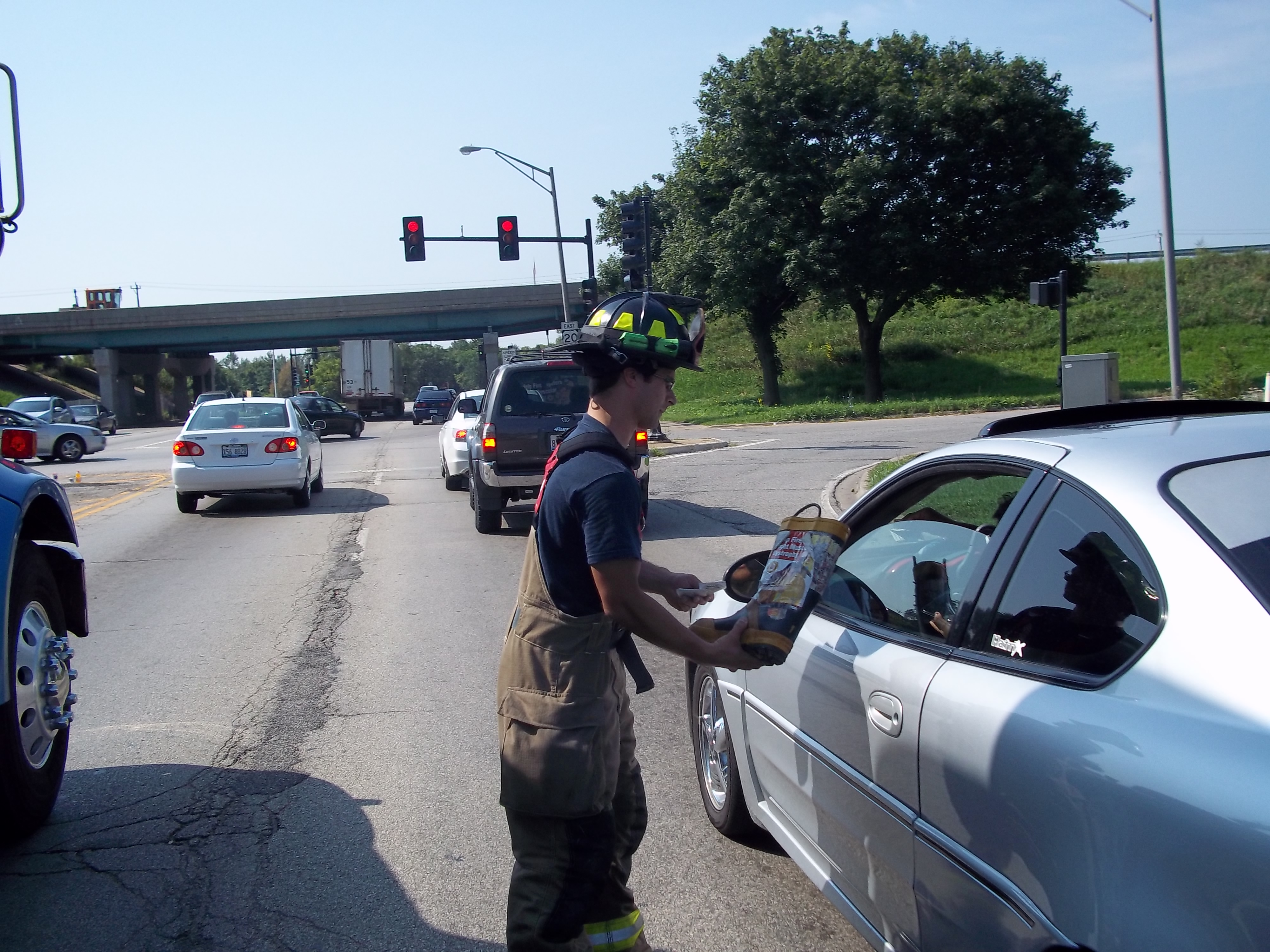 Elgin Fire Fill the Boot - 2011