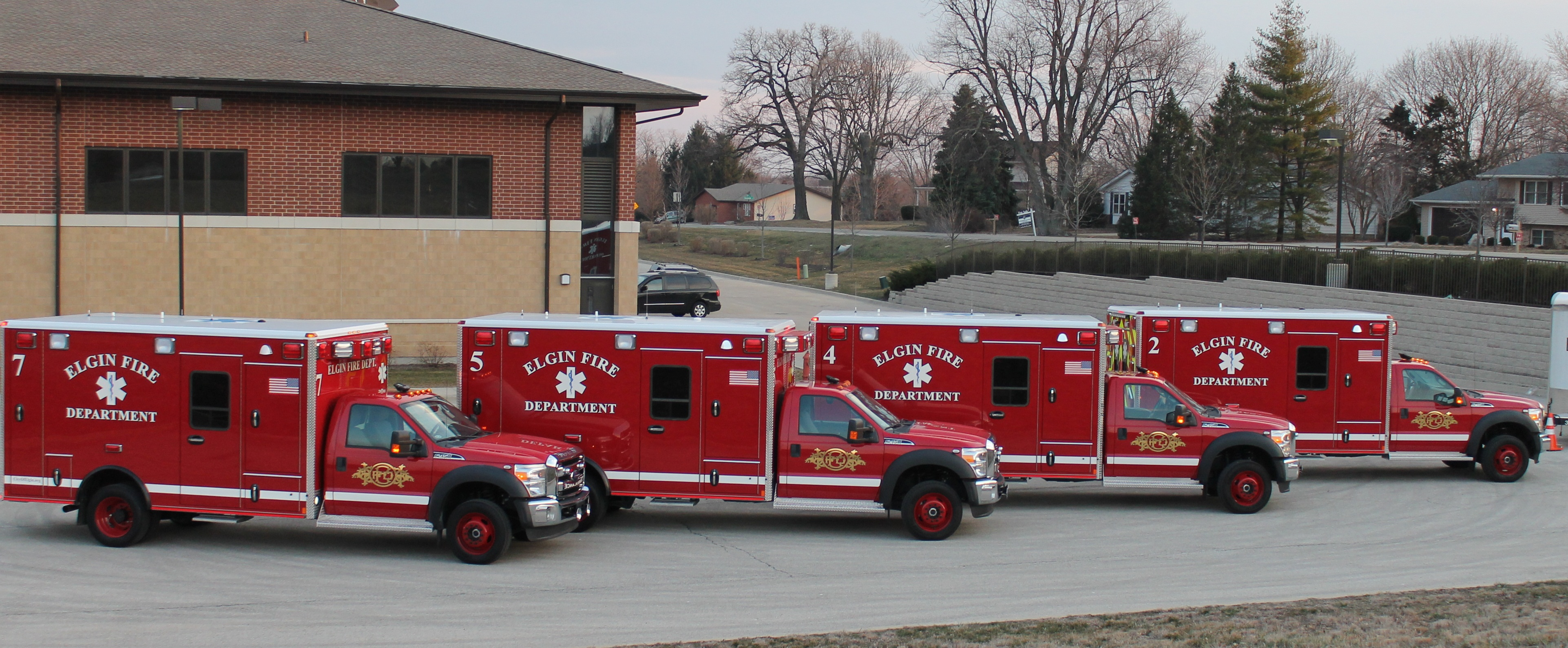 Ambulances 2, 4, 5 and 7