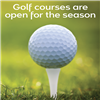Golf courses open