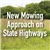 new mowing approach on state highways
