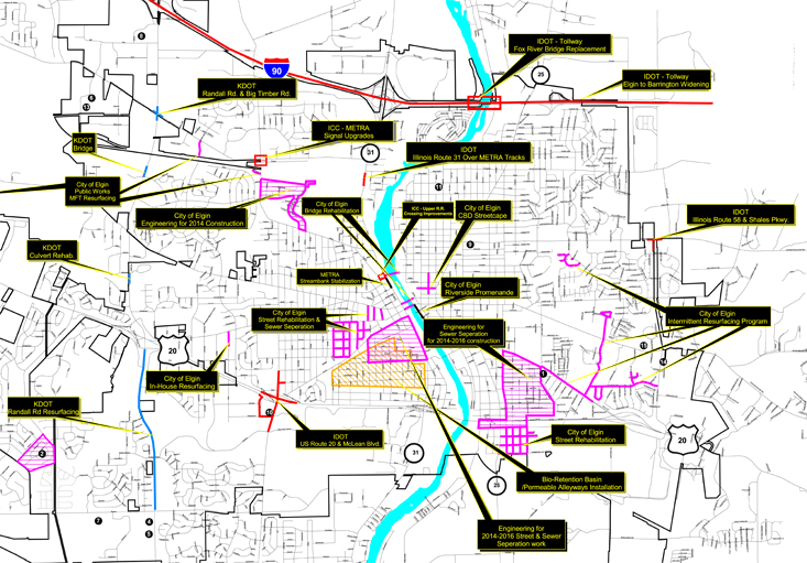 2013 Partial Capital Project Map