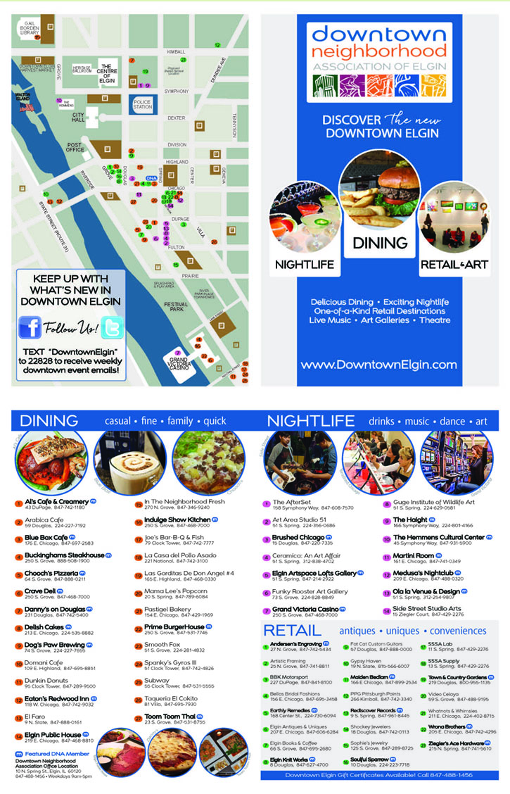 Downtown Restaurant Map