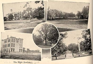 collage of pictures of Elgin Academy